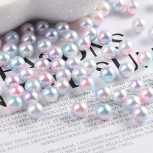 3-8mm Multicolor No Hole Imitation Pearls Round Loose Beads Garment Handmade DIY Accessories For Fashion Jewelry Making