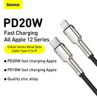 Baseus USB C Cable for iPhone 12 Pro Max PD 20W Fast Charge Cable for iPhone 11 8 Charger USB Type C Cable for Macbook Pro