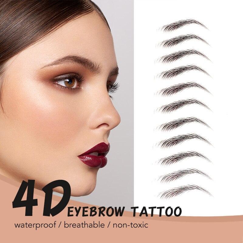 BANXEER 3D Eyebrow Tattoo Waterproof Fine Sketch Eyebrow Tint Makeup Waterproof Long Lasting Eyebrows Cosmetics