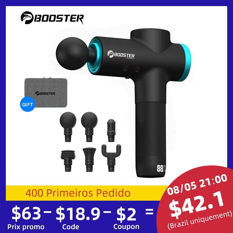 BOOSTER M2-12V LCD Display Massage Gun Professional Deep Muscle Massager Pain Relief Body Relaxation Facial Gun Fitness