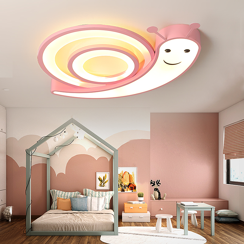 Snails childrens room ceiling chandelier pink/blue/white led Hardware+acrylic modern lighting fixtures