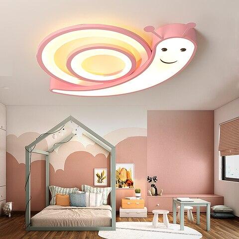 caracois quarto das criancas lustre de teto rosa azul branco led lustre de ferragens acrilico
