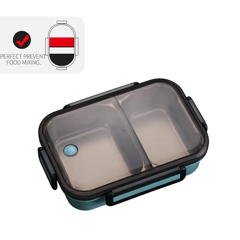 WORTHBUY японский Ланч-бокс для детей школы 304 из нержавеющей стали бенто Ланч-бокс герметичный контейнер для еды детская коробка для еды - Цвет: A Blue