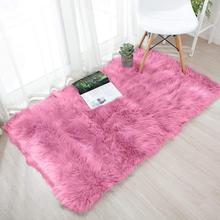 Rectangular imitation wool carpet 60X120CM mobile kitchen camping sheepskin