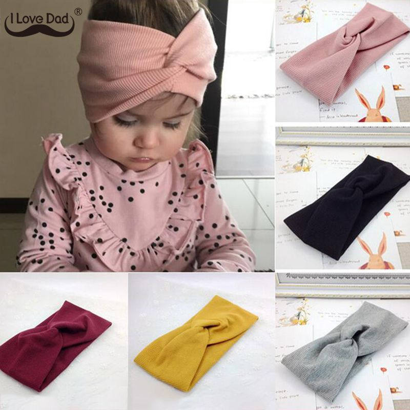 Girls Hats Headband Bonnet Baby-Accessories Kids Cap Knit Winter Baby Cotton Soft Solid
