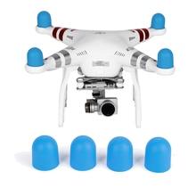4 adet yumuşak silikon şapka kitleri Motor kapağı kapağı için DJI Phantom 2 3 4 Pro gelişmiş SE Drone Motor koruyucu toz geçirmez yedek parça