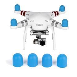 Zachte Siliconen Hoed Onderdelen Kits 4 Stuks Motor Cover Cap Voor Dji Phantom 2 3 4 Pro Geavanceerde Se drone Motor Protector Dust Proof-in Drone Accessoires Kits van Consumentenelektronica op