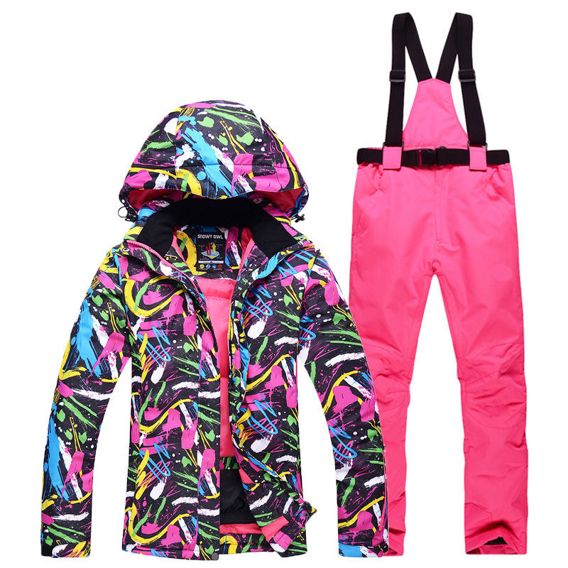 Men And Women Snow Suit Gear Outdoor Sports Wear Snowboarding Sets Waterproof Windproof Breathable Ski Jacket And Bibs Snow Pant