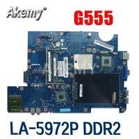 NAWA2 LA-5972P für For Lenovo G555 notebook G555 laptop motherboard NAWA2 LA-5972P mainboard DDR2 Test original mothebroard