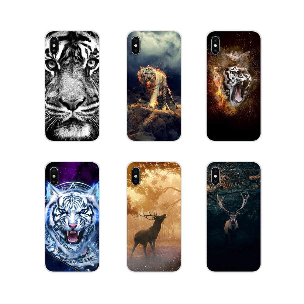For Sony Xperia Z Z1 Z2 Z3 Z5 compact M2 M4 M5 E3 T3 XA Huawei Mate 7 8 Y3II Deer Lion Tiger Accessories Phone Shell Covers