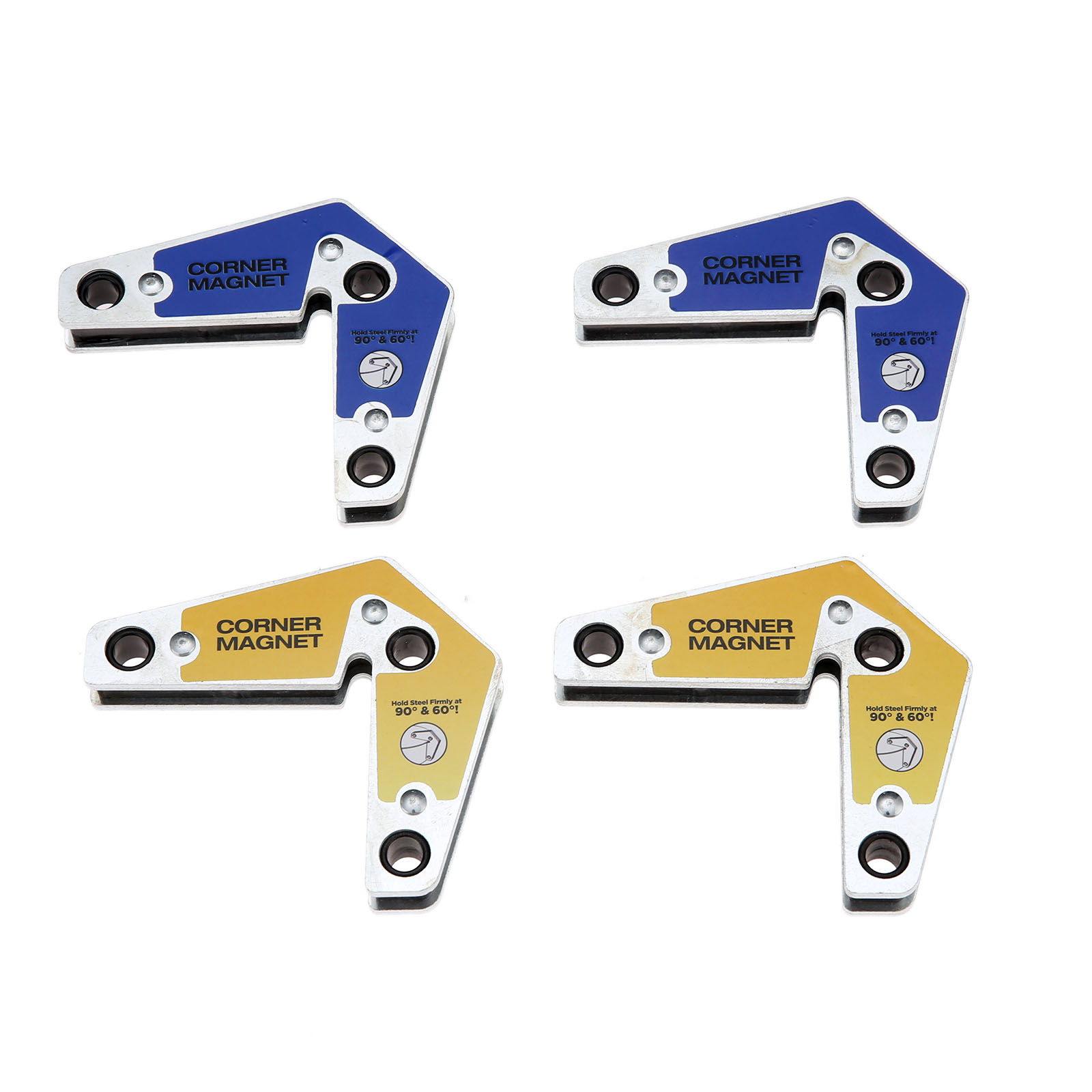 DRELD 2pcs/set Welding Corner Magnet Holder Industrial Internal And External Right Angle Fixator 60 90 Angles Magnetic Clamp