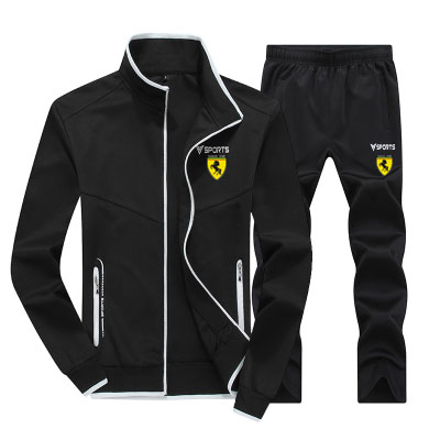 Men Walk Casual Jogging Full Outdoor Gym TrackSuit Sport Jacket Coat Bottom Suit Trousers Pants Track Fall Spring Outfit 2PC