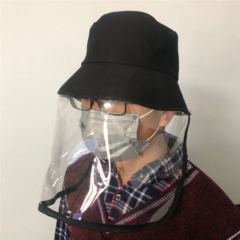 Fisherman's Hat 270° Anti Droplet Spittle Dust-proof Protective Full Face Cover HD Vision Mask Protective Cap Dropshipping