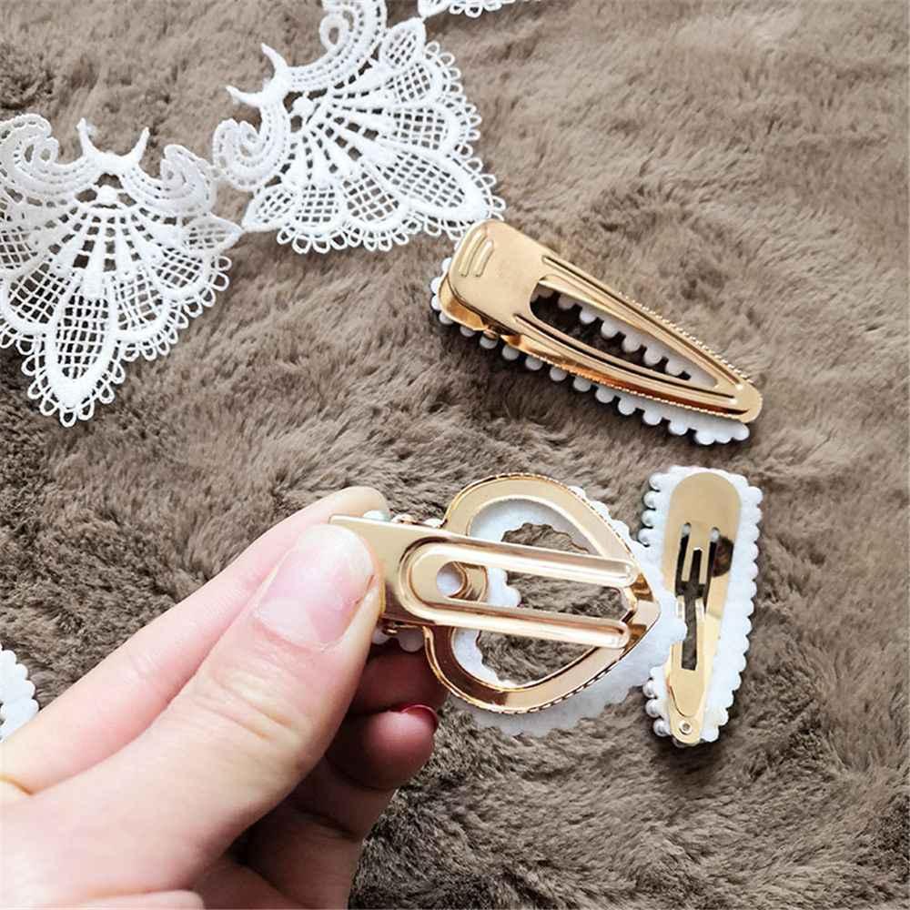 1PCS Koreaanse Nieuwe Mode Regenboog Parel Haar Clip voor Vrouwen Metalen Haarspelden Kralen Snap Hair Pin Barrette Steekt Haar accessoires