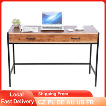 Computer Desk Laptop-Gaming-Table 2-Drawers Home Office Modern-Style Large-Size