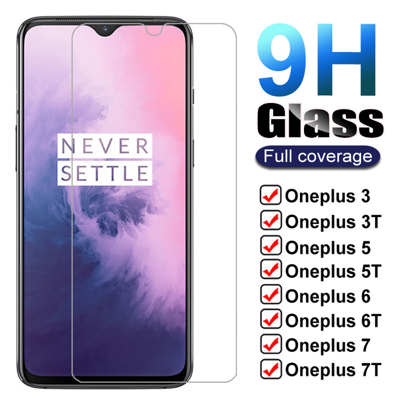 Закаленное стекло 9H для Oneplus 7, 7T, 6 T, 5T, 6, 5, 3T, 3, 1 +, 7, 1 +, 6, защита экрана One Plus 7, Oneplus7, 6 T, 7T, защитная стеклянная пленка, чехол