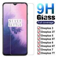 Vidrio Templado 9H para Oneplus 7 7T 6 T 5T 6 5 3T 3 1 + 7 1 + 6, Protector de pantalla One Plus 7 Oneplus7 6 T 7T, funda de vidrio Protector