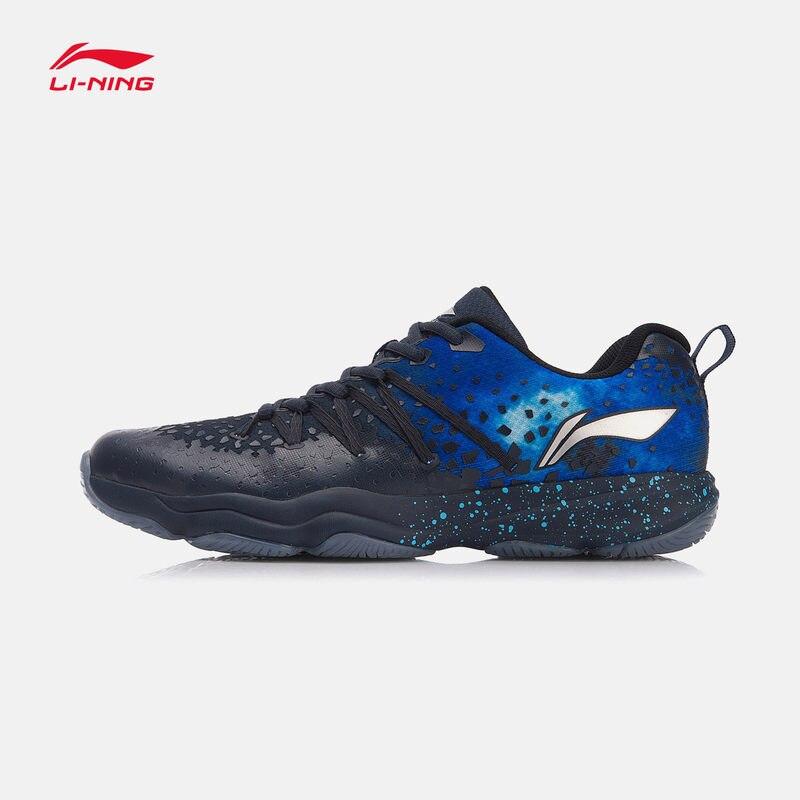 Li-Homens NEBULOSA Ning Badminton Sapatos Wearable Anti-Escorregadio Forro Calça As Sapatilhas Do Esporte da Aptidão AYTN035 SOND18