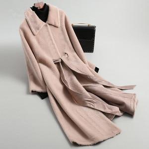 Image 3 - AYUNSUE Real Fur Coat Female Sheep Shearling Winter Jacket Women 100% Wool Coat Women Korean Long Jackets Manteau Femme KL 1912