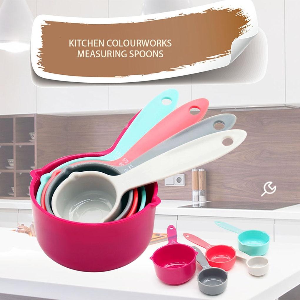 5pcs/set Foldable Measuring Spoon Set Colorful Baking Measure Scoop Kitchen Flour Sugar Measuring Cup Baking Measuring Tools