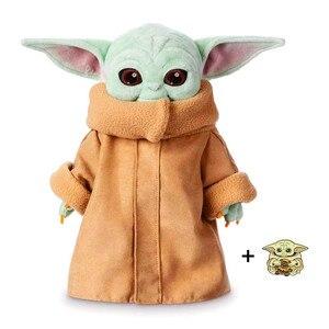 Детские плюшевые игрушки Yoda The Mandalorian, 12 дюймов, мягкие куклы, коллекция, подарки на день Святого Валентина