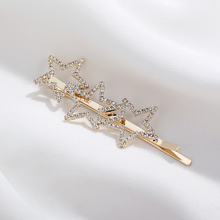 CHIMERA Bing Star Hair Clips Cyrstal Metal Pins Fashion Barrettes Hollow Out Clamp Jewelry Accessories for Girls Women