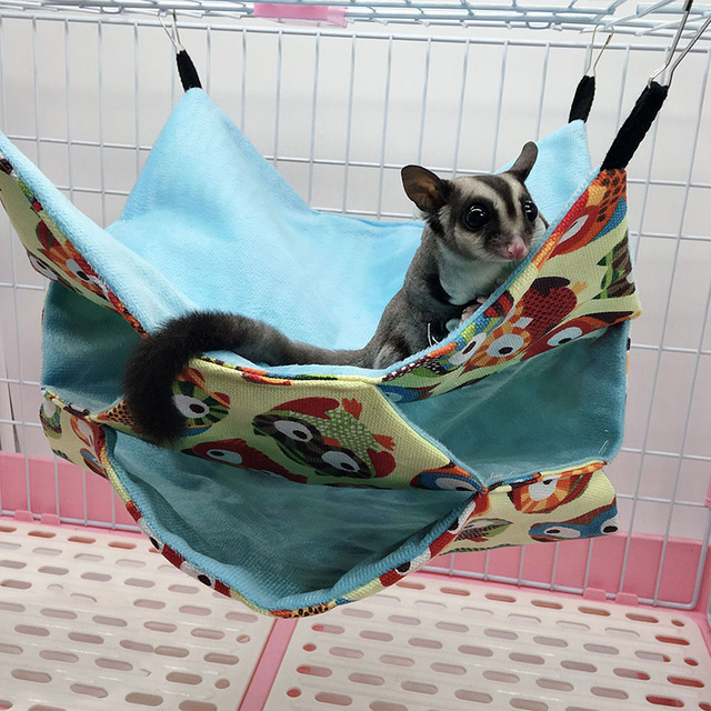 Triple Layers Pet Cage Hammock Guinea Pig Bedding Cage for Small Parrots Squirrel Hamster DTT88 2