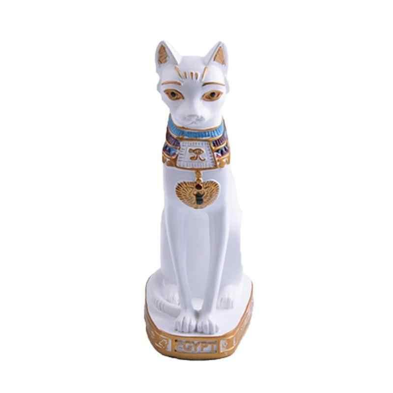 Liplasting الراتنج أسود أبيض المصرية القط آلهة تمثال تمثال الشكل حلية ديكور ل هدية الكريسماس ديكور المنزل خمر