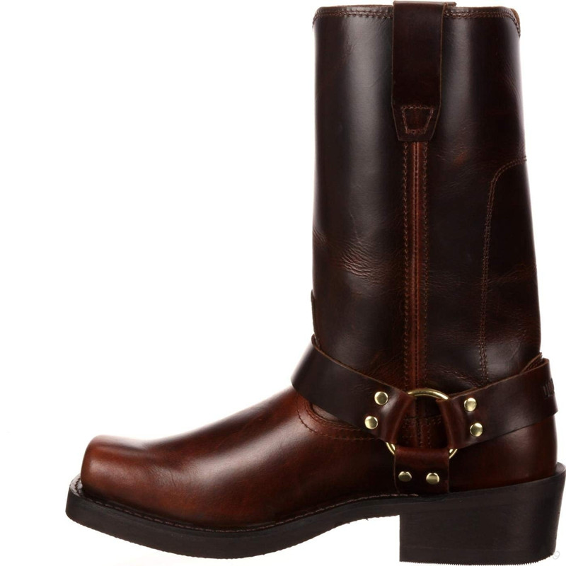 Woman Knee High Boots Combat Vintage Leather Boots Rider Horse Boot (5)