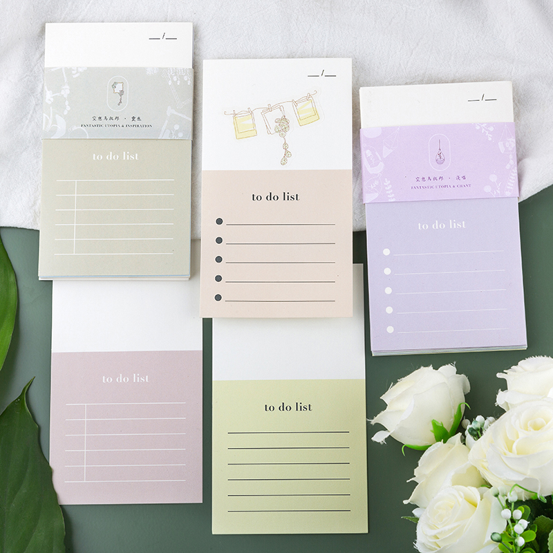 Fantasy Utopian Series Paper Sticky Notes To To List Memo Pad Diary Stationary Scrapbook Decorative Cute Flower N Times Sticky