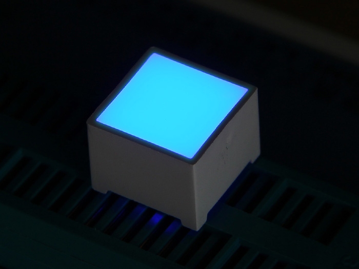 Red White Blue Green <font><b>LED</b></font> Square Diode - 15x15mm image