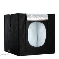 Photo Studio LED Light Box 80cm*80cm Portable Photography Tent Table Top Shooting Tent with 3 Colors Backdrops for Still Life