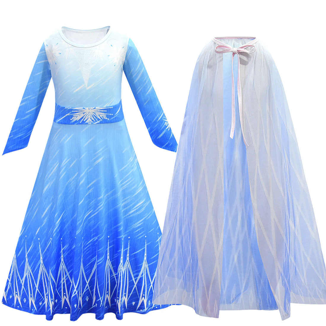 Elsa Jurk Voor Kid Meisjes Prinses Kerstmis Carnaval Party Vestidos Kostuum Fantasia Anime Kind Cosplay Kleding E30K53
