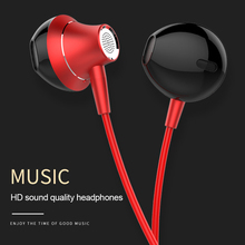 Volume Control Wired Earphone headphones 3.5mm With Mic Musi