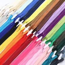 10Pcs/Pack 60cm 3# Colorful High Quality Invisible Zipper Nylon Coil Zipper For DIY Handcraft Cloth Sewing Accessories Wholesale