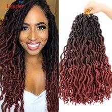 Braid Hair Crochet Synthetic-Hair Goddess Twist-Loc Faux-Locs Dread Soft Alileader
