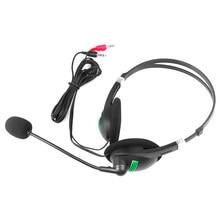 3.5 Mm Hoofdtelefoon Wired Oortelefoon Met Microfoon Ruisonderdrukkende Computer Headset Lichtgewicht Voor Laptop Pc School Kinderen