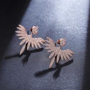 Image 4 - Pendientes grandes con pasador de Ángel brillante y elegante para mujer, joyería de moda brincos ohringe Boucle Doreille