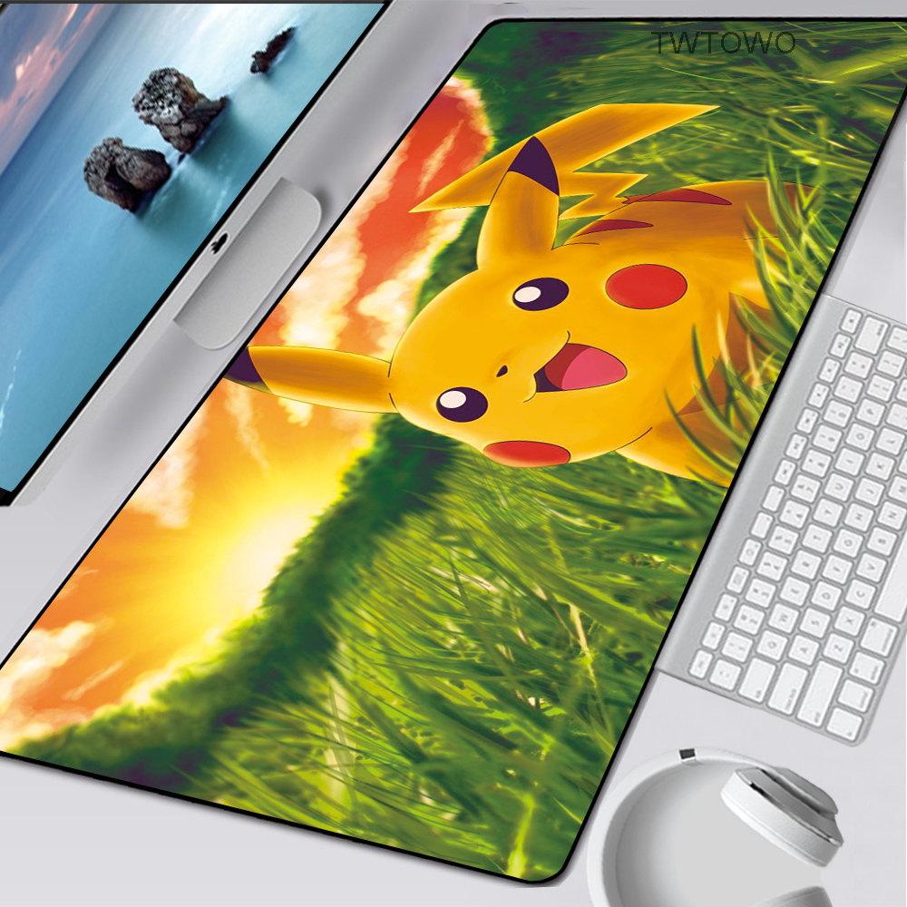 Pokemons XXL Cartoon Mousepad Cute Gamer Gaming Mouse Pad Rubber Large Notebook PC Accessories Laptop Padmouse Keyboard Play Mat 1