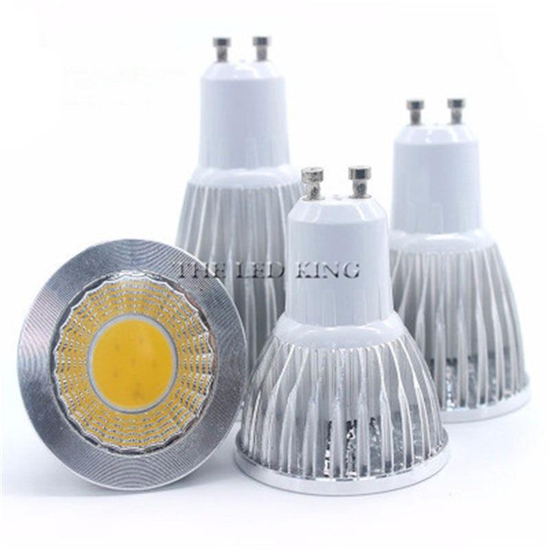 Ультра-Яркий Светодиодный точечный светильник COB 7 Вт 10 Вт 15 Вт 21 Вт GU10, cob светильник, лампа переменного тока 220 В 110 В, точечный светильник, Теп...
