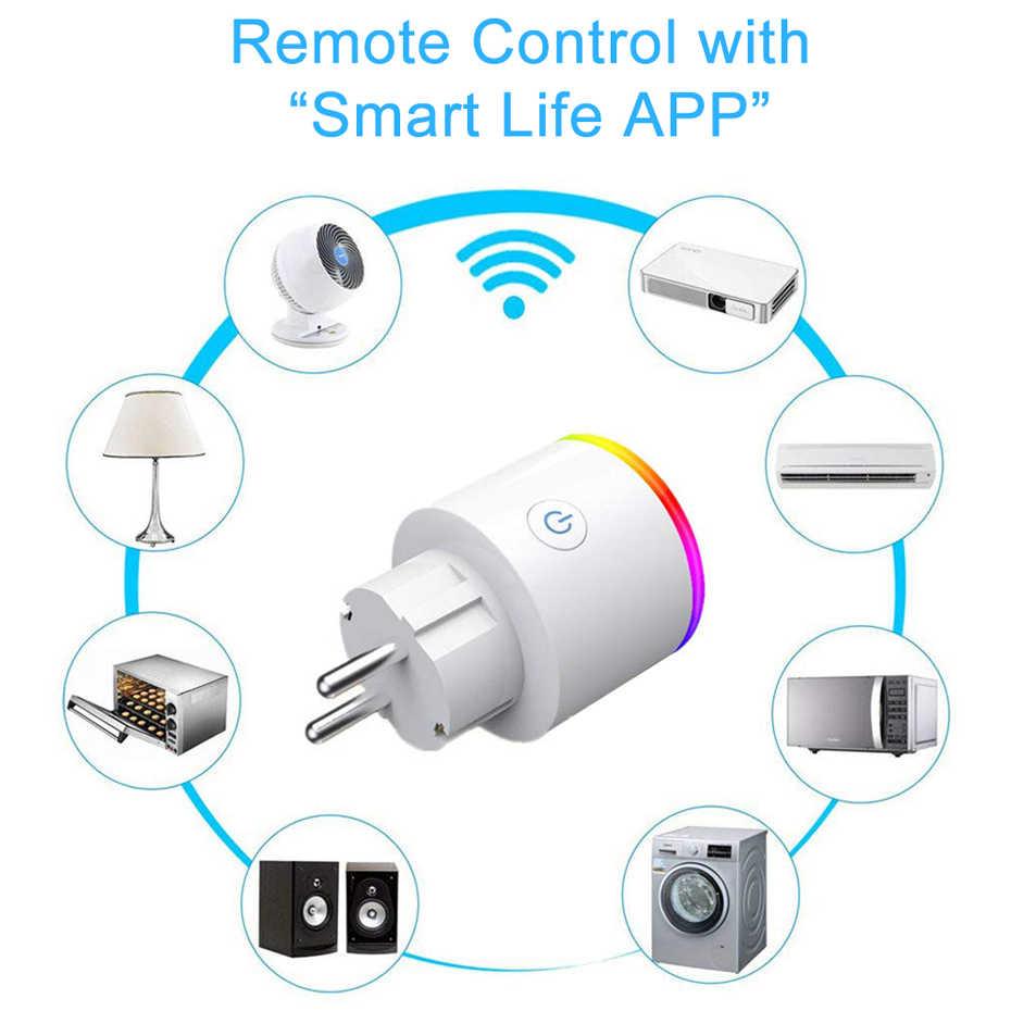 Inteligentna wtyczka Wifi zewnętrzne gniazdo sterujące sterowanie głosem inteligentny gniazdo zasilania US ue UK AU wtyczka JP wsparcie Alexa Google domu Mini IFTTT