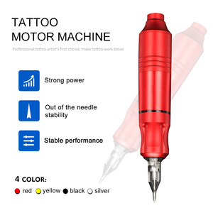 Image 3 - Top Selling Profession Rotating Pen Tattoo Machine Set Tattoo Pen Magician LCD Power Pedal Tattoo Supply Free Delivery