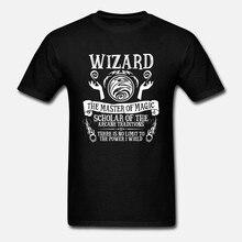 Impresso-Camisa-Dos-Homens-T-de-Algod o--camisetas-Manga-Curta-ASSISTENTES-o-Mestre-da-Magia