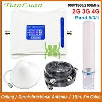 Repetidor de sinal do telefone móvel gsm 900 mhz W-CDMA umts hspa 2100 mhz dcs 1800 mhz lte impulsionador de sinal celular 2g 3g 4g 900 2100 1800