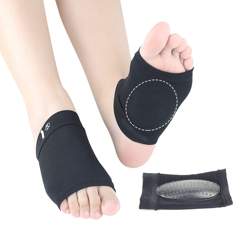 New Style Black And White With Pattern Bandage Sole Of The Foot Support Granule Shock Absorption Relaxation Elasticity Comfortab
