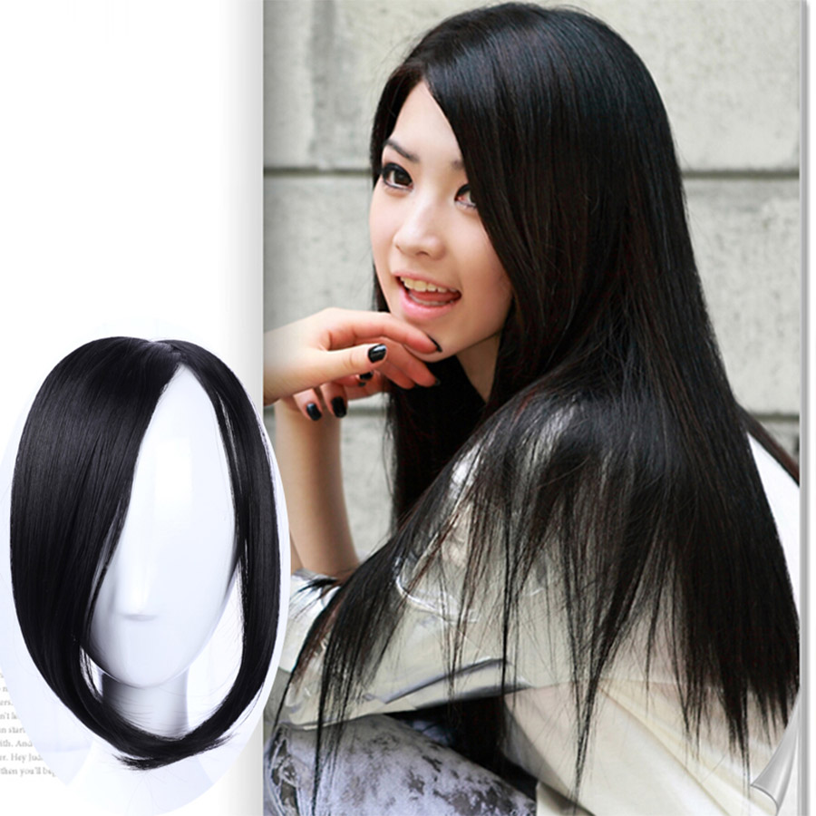 Wig Piece Oblique Bangs Flawless Invisible Realistic Bangs Side Partially Divided Into Eight Disguised Bangs Headwear
