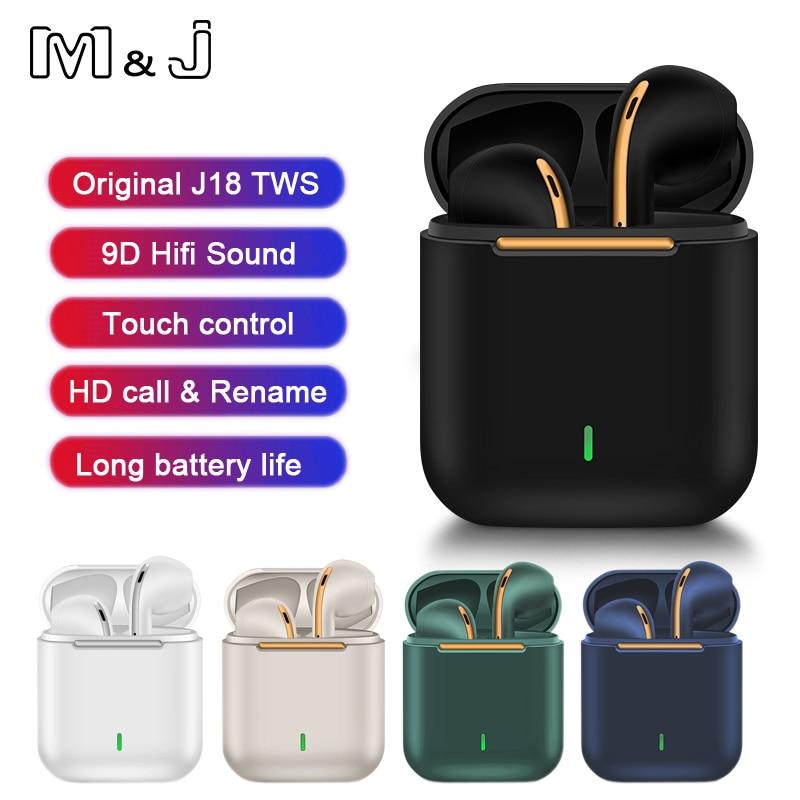 Новый оригинальный J18 наушники-вкладыши TWS Bluetooth наушники стерео True Беспроводной гарнитура наушники в ухо громкой связи Bluetooth гарнитура науш...
