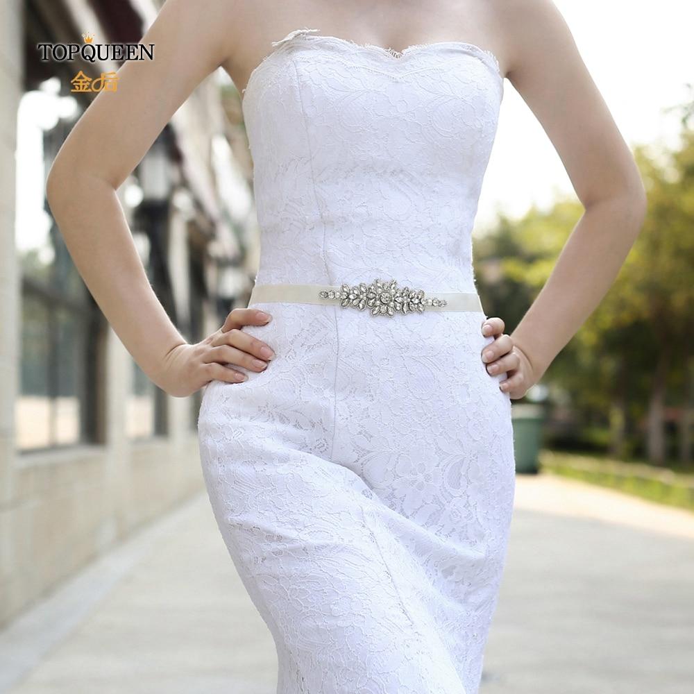 TOPQUEEN Crystals Rhinestone Belt Wedding Bride Bridesmaid Belt  Bridal Sashes   For Wedding Accessories Women's Sashs S270