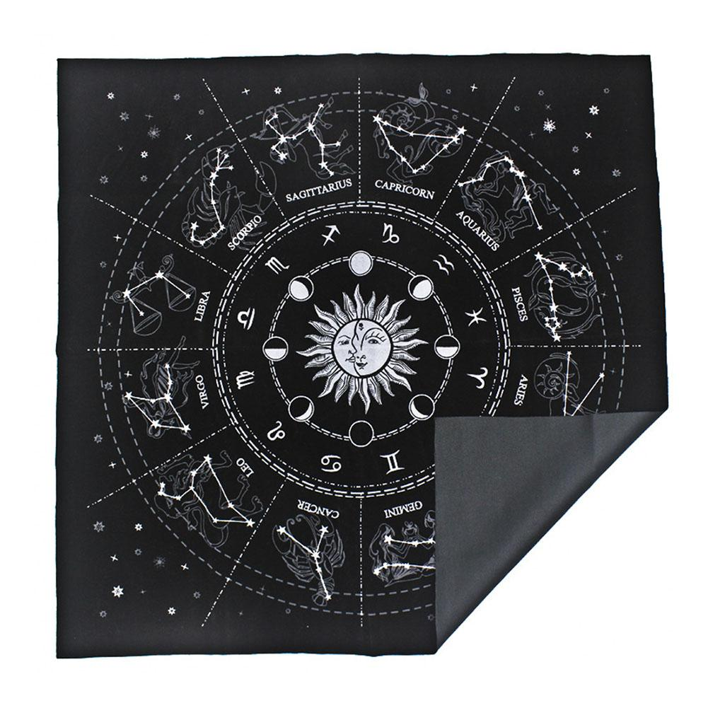Tarot Card Tablecloth 12 Constellations Astrology Table Board Game Divination Tablecloth For Psychological Counselors Magicians
