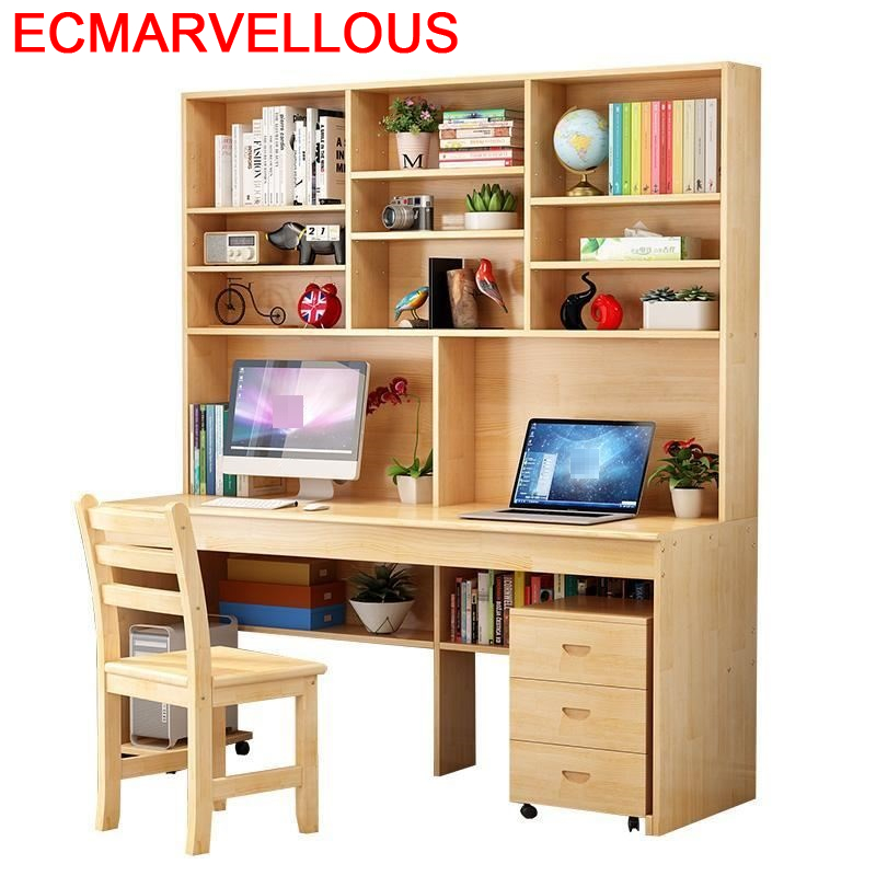 Tafelkleed Mueble Escrivaninha Escritorio Standing Tafel Computer Bed Tablo Bedside Stand Laptop Desk Table With Bookcase